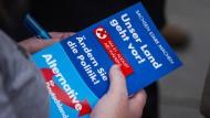Werbeflyer für die Wahl in Sachsen: Für ihre Wähler steht die AfD für frischen Wind in der Politik