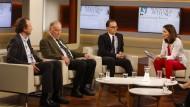 """Justizminister Heiko Maas (SPD) im Juni 2016 bei der ARD-Talksendung """"Anne Will"""", links neben ihm: AfD-Politiker Alexander Gauland. Wie viel Polarisierung verträgt Deutschland?"""