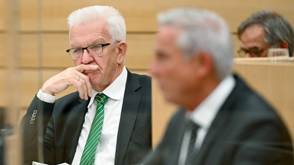 Der baden-württembergische Ministerpräsident Winfried Kretschmann im Juli 2021