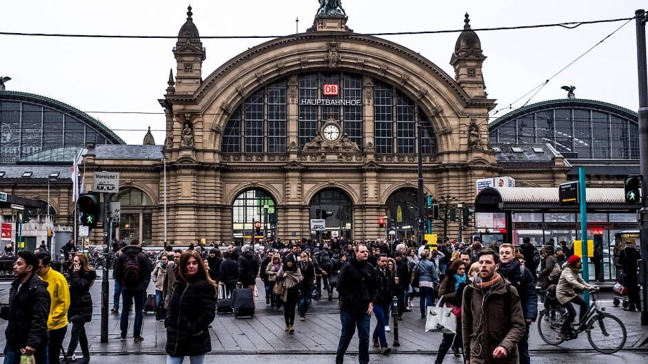 Schauplatz der Massenschlägerei: Frankfurter Hauptbahnhof