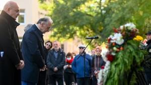 Halle gedenkt der Opfer des Synagogen-Anschlags