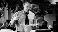 Dieter Eckart 1996 in seiner Zeit als Nachrichtenchef der F.A.Z.
