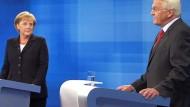 """Müntefering spricht vom """"Durchbruch""""<BR/>Pofalla sieht Merkel als """"Sieger"""""""