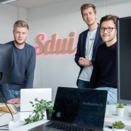 Die drei Gründer des Start-ups Sdui: Jan Micha Kroll, Daniel Zacharias und Timo Stosius (v.l.n.r.).