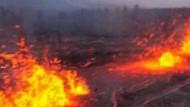 Vulkan speit spektakulär Feuer