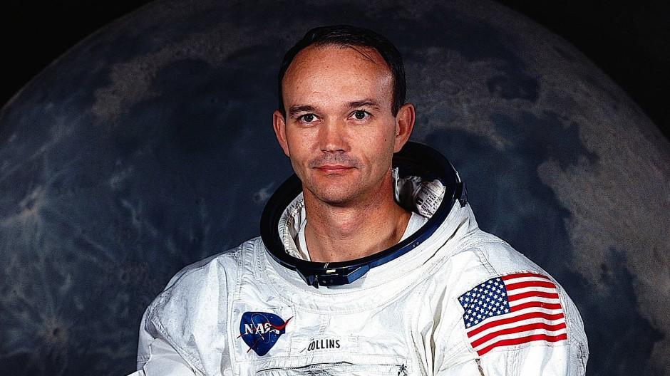 Michael Collins in seinem Raumanzug