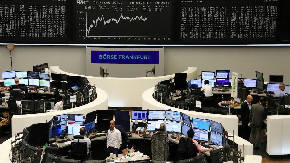 Handelsraum an der Frankfurter Börse.