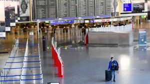 Flugverkehr in Frankfurt geht weiter stark zurück