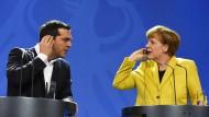 Tsipras bittet  Merkel am Telefon um Geld