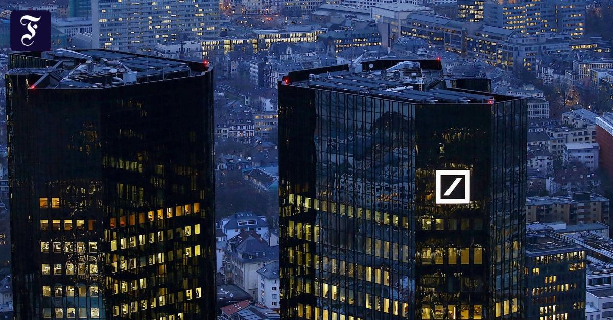 Die Boni der Deutschen Bank folgen der Logik des Marktes - FAZ - Frankfurter Allgemeine Zeitung
