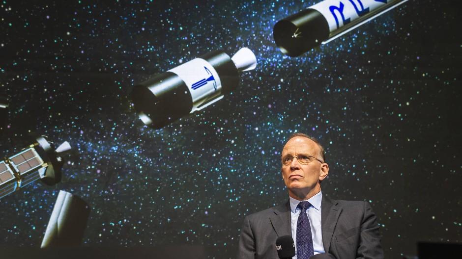 Marco Fuchs, Vorstandsvorsitzender des Technologiekonzerns OHB, am Tag der Industrie 2020 des Bundesverbandes der Deutschen Industrie (BDI).