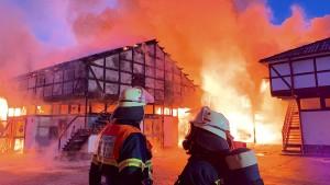 Mehrere Pferde sterben bei Reitstall-Brand