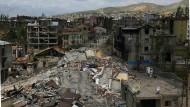 """""""Menschliche Tragödien"""": Die türkische Stadt Yüksekova, nach Kämpfen zwischen Armee und Kurden"""
