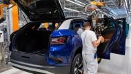 Die Fertigung des elektrischen ID.4 Modells von Volkswagen in Zwickau.