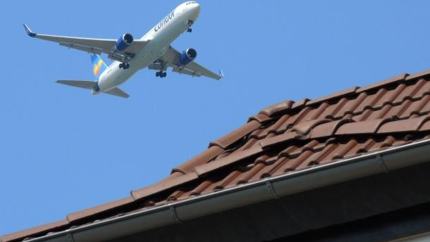Kaum noch Fluglärm um Frankfurt