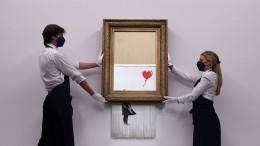 Banksys Schredder-Werk für 16 Millionen Pfund versteigert