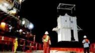 BP setzt Metallglocke auf Ölleck