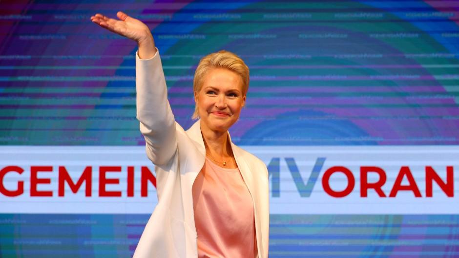 Ein wunderbarer Abend auch für sie: Ministerpräsidentin Manuela Schwesig am 26. September in Schwerin