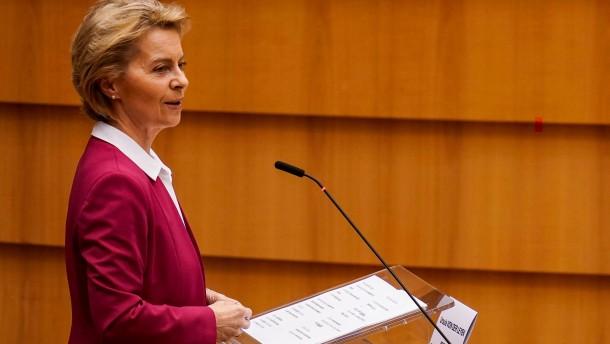Von der Leyen wirbt für EU-Wiederaufbauplan