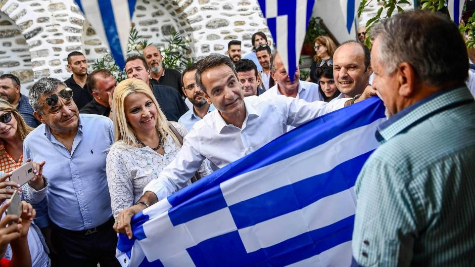 Auf ihm ruhen die Hoffnungen vieler Griechen: Oppositionsführer Kyriakos Mitsotakis
