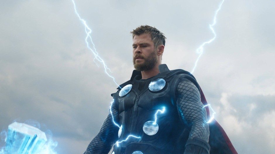 "Szene aus ""Avengers: Endgame"" mit Chris Hemsworth als Thor"