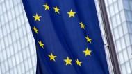 Eine Fahne der Europäischen Union