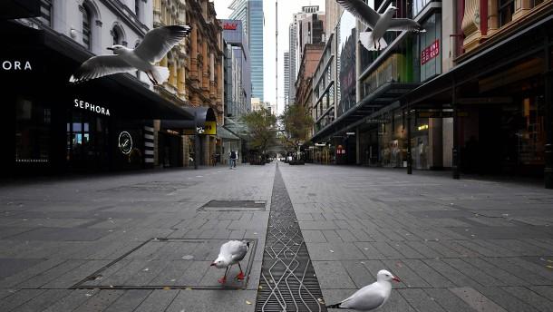 Coronabedingte Sorgen rund um Sydney