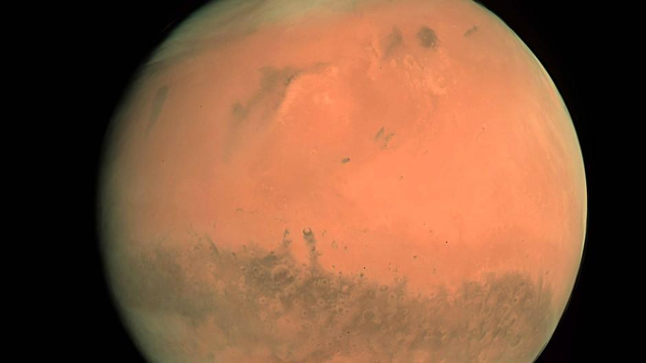 Mars, der einzige bekannte Planet, der derzeit nur von Robotern bewohnt wird.