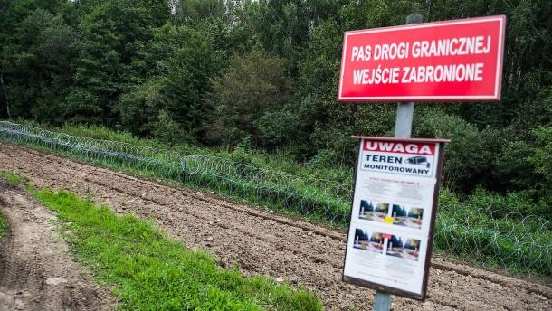 Polen errichtet Zaun an Grenze zu Belarus