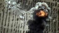 Luftschlag: Das Bild zeigt einen russischen Angriff im westsyrischen Idlib.