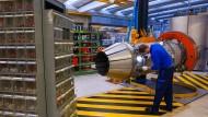 Eine Fabrik des Triebwerksherstellers MTU Aero Engines in München.
