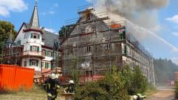 Brand am Eulbacher Schloss