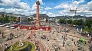 Herzstück: Mit dem Luisenplatz zeigt sich Darmstadt von seiner schönen Seite.