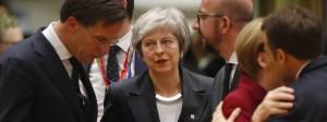 Ausgeschlossen: Die britische Premierministerin Theresa May beim EU-Gipfel in Brüssel.