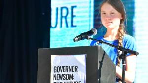 Greta sieht Klimakrise als Auslöser für Brände