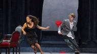 "Szene aus der Oper ""The Medium"" von Gian Carlo Menotti (1911-2007)"