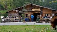 Es war einmal: die inzwischen wieder abgerissene Almhütte im Röthelbachtal