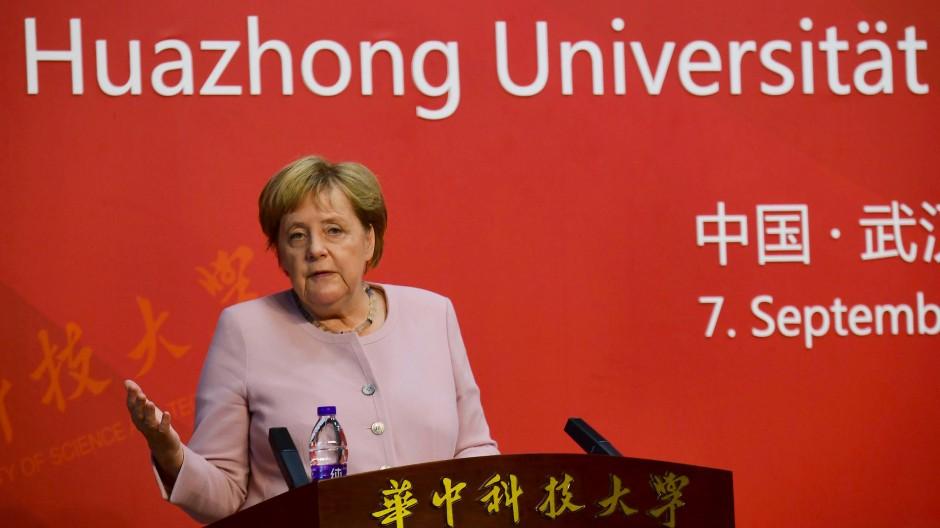 Merkel Huazong Universität