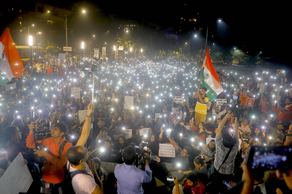 Studentenprotest im Januar 2020 in der indischen Metropole Mumbai