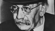 Friedrich Adler (1879-1960). Für den Mordanschlag auf Karl Stürgkh wurde er zum Tode verurteilt, später aber zu 18 Jahren Kerker begnadigt und 1918 schließlich amnestiert. Foto um 1950.