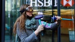Klima-Randale gegen HSBC