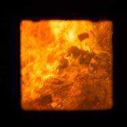 Vernichtend: Blick in einen Brennofen im Müllheizkraftwerk