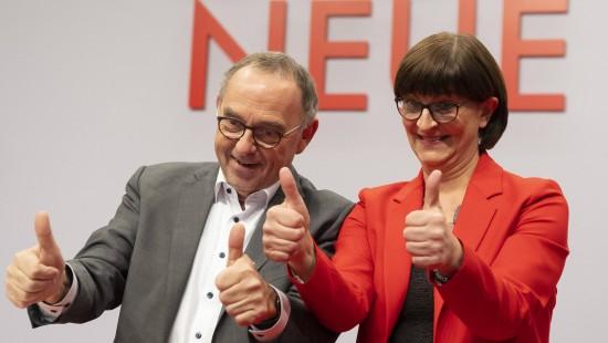 Esken und Walter-Borjans neues SPD-Spitzenduo