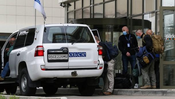 OSZE-Beobachter können Hotel in Donezk verlassen