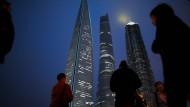 Finanzdistrikt in Schanghai: Der IWF warnt vor den vielen faulen Krediten.