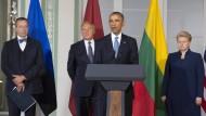 Obama verspricht Baltikum ewige Unterstützung Amerikas