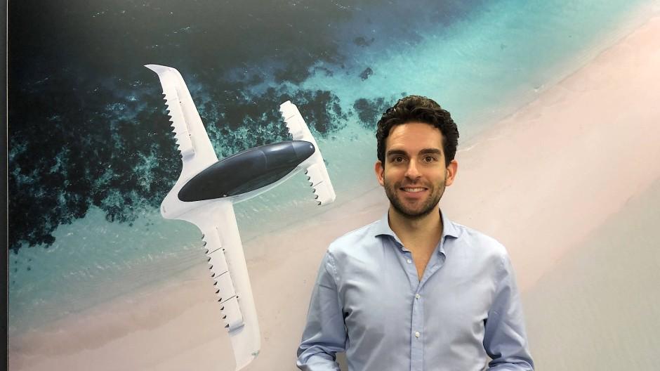 Lilium-Vorstandschef Daniel Wiegand hat mit seinen E-Flugzeugen große Pläne für die Mobilität der Zukunft.