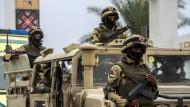 Werden weiter mit Waffen aus EU-Staaten beliefert: ägyptische Soldaten.