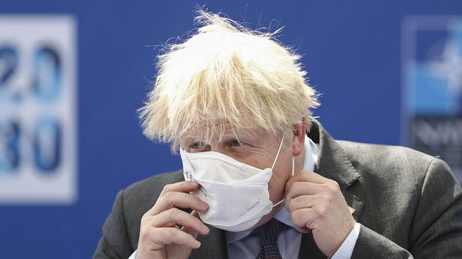 Ist für den NATO-Gipfel in Brüssel eingetroffen: der britische Premierminister Boris Johnson am Montag
