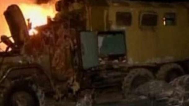 Luftangriffe der Alliierten - Artillerieattacken der Gaddafi-Truppen